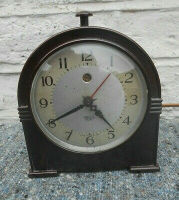 Art Deco Smiths Sectric Bakelite Electric Alarm Clock