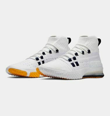 Under Armour Project The Rock 1 Delta Training Shoe White/Yellow UA 2019