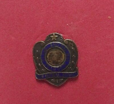 Vintage The Cleveland Railway Co. Faithful Service Sterling Pin, Public Transit