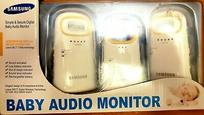 NEW Samsung Simple & Secure Digital Baby Audio Monitor 2 Monitors DECT 1.9 Ghz