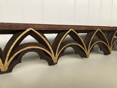 Nice Gilt Gothic Tracery/Pediment carved in wood (3)