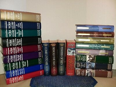 """THE WORK AND THE GLORY"" BOOKS~Complete 9+Fire of Covenanant+Kingdom Lund 21bks"