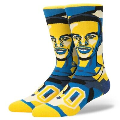 fc77ea756e69 Men s Golden State Warriors Stephen Curry Stance Mosaic Socks Size L(9-12)