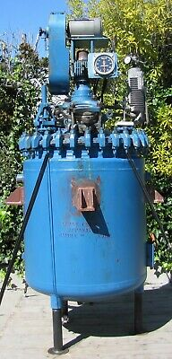 Pfaudler Sybron 150 Gallon Glass Lined Reactor Vessel Tank with 2hp Agitator Mix