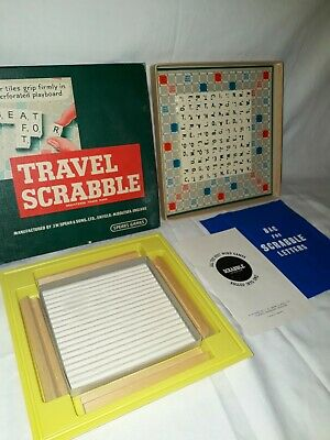 Vintage TRAVEL SCRABBLE Board Game 100% Complete By SPEARS GAMES 1950s-1960s Era