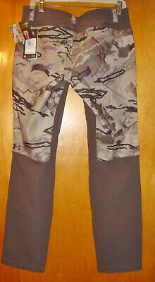 c2cae2734d39e NWT Under Armour Womens Ridge Reaper Camo Brown Fitted BARREN Hunting PANTS