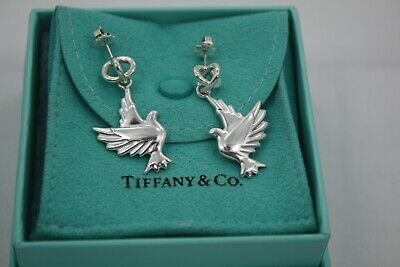 f43bc4e27 Tiffany & Co. Paloma Picasso Dove Dangle Earrings Sterling **stunning ...