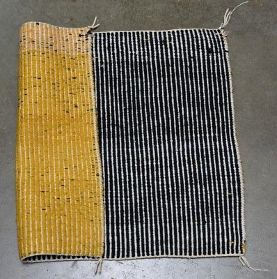 Handsome Antique Navajo Indian Single Saddle Blanket Double Weave