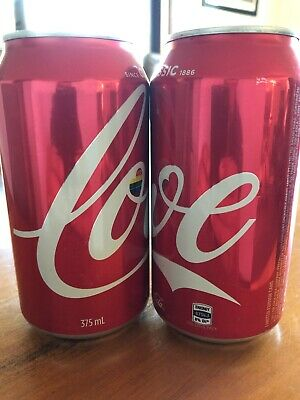 Coke Coca Cola Love Cans (pair)Very Limited Rare