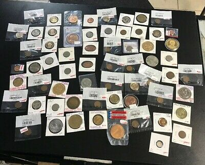 Lot Huge 248 Coins Stamps Collection Silver Tokens Bills Quarters Dollars $830
