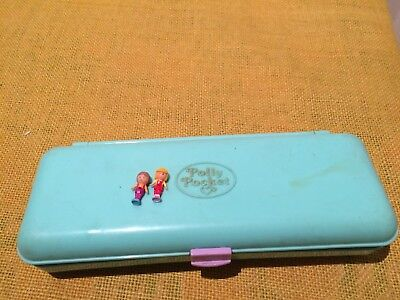 Polly Pocket  Pencil Case Vintage Toy 1990 Bluebird