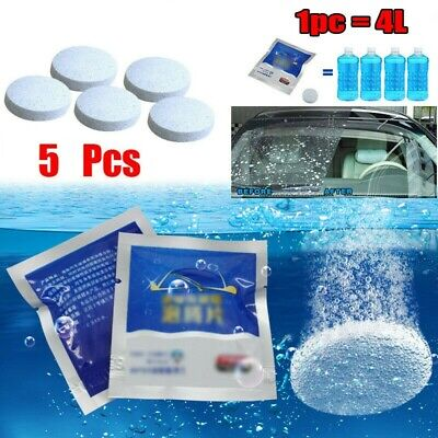 Screenwash Tablets Windscreen Cleaner Effervescent Washer Powerful Car Lorry 5X