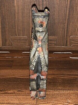 Antique Late 19th Century Primitive Asian Carved Stone Shrine Incense Holder #6