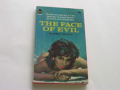 The Face Of Evil  1966   Robert Bruce   Legendary Beautiful Midwood Cover  Fine