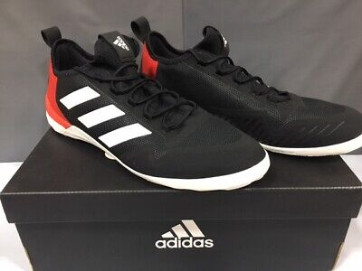 4993f7e25 NEW! ADIDAS MEN S Ace Tango 17.1 IN Soccer Shoes Black White Red Sz ...