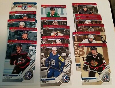 "2019 Upper Deck National Hockey Card Day USA America's Rookies ""COMPLETE SET!"""