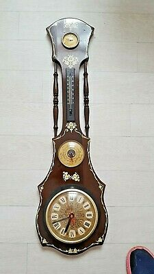 Antique Vintage Wall Clock Thermometer - London W9