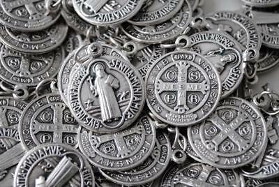 HUGE Catholic Italian St Benedict Medal Lot - 100 Medals - FREE USA SHIPPING!!!