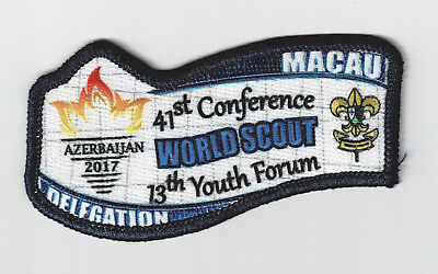 2017 World Scout Conference & Youth Forum - Macau Macao Scouts Delegation Patch