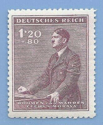 Nazi Germany Third Reich  B&M Hitler 120+80 stamp MNH WW2 ERA stamp #6