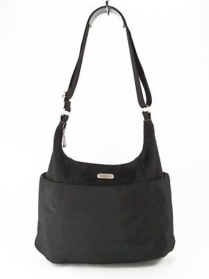 Baggallini Black Hobo Crossbody Bag Travel Shoulder Org Purse Large $98 EXC