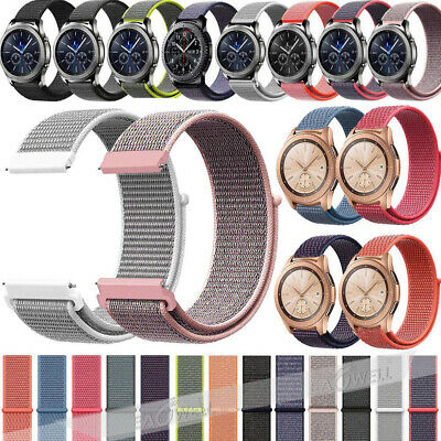 Luxury Woven Nylon Loop Wrist Watch Band Strap For Samsung Galaxy Watch 42 46mm