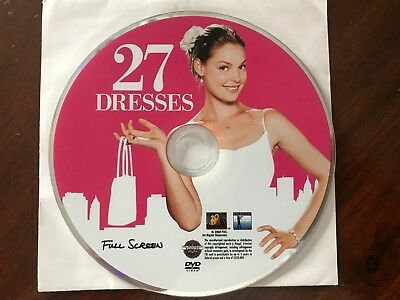 27 Dresses (Full Screen Edition) DVD Only! No Case/Artwork! Katherine Heigl