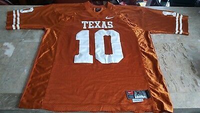 official photos 4bc6d 6a1e2 NIKE NCAA TEXAS Longhorns #10 Vince Young Jersey Size XL Length +2