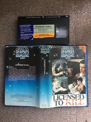 Licensed To Kill Vhs/ Very Rare & Original Starbase Action/war Video