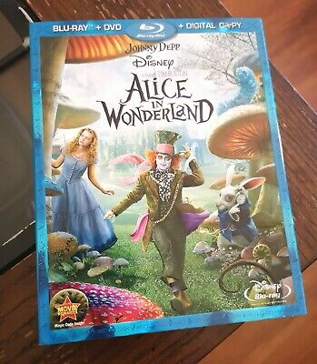 Alice in Wonderland (2010, Tim Burton) *** Blu-ray+ DVD w/Slipcover