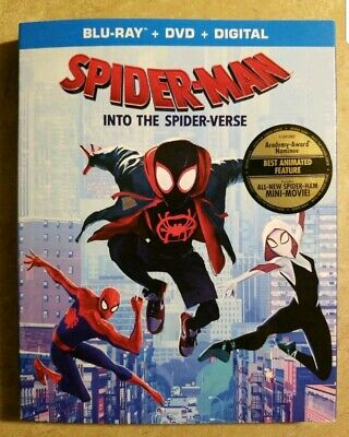Spider-Man: Into The Spider-Verse (Blu-ray Case& Cover) Brand New! No Dvd/Code