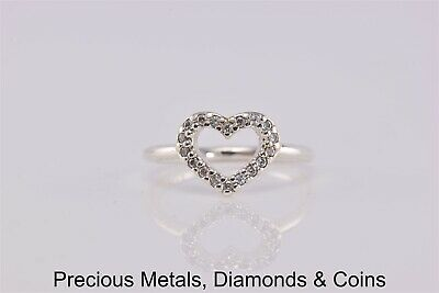 09b689295 Pandora Sterling Silver Cubic Zirconia Be My Valentine 190861CZ Ring 925  Sz: 6