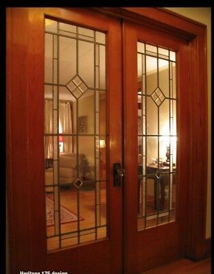 Beautiful Interior Heritage Doors Genuine  Lead glass Handcrafted pre-hung