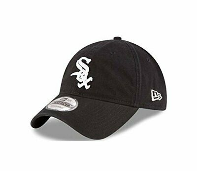 official photos 672c6 39f0a New Era Chicago White Sox MLB Adjustable 9Twenty Hat Black White