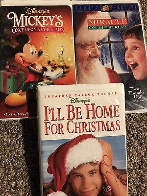 Once Upon A Christmas Miracle.Mickey S Once Upon A Christmas Miracle On 34th Street I Ll Be Vhs Video Lot Pe