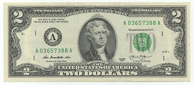 USA $2 Uncirculated note / Mint A1 Very hard to find in circulation!