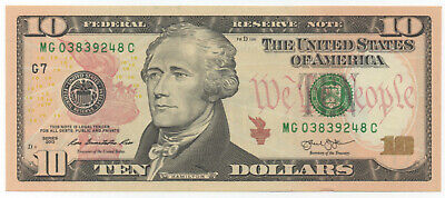 USA $10 / Mint G7 / 2013 / Unc condition.