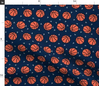 Basketball Basketball Sports Sport Kids Play Fabric Printed by Spoonflower BTY