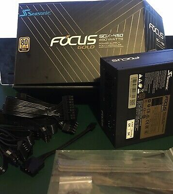 modular SEASONIC focus gold sgx-450 SFX-L PSU suit itx power supply
