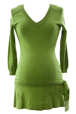 OLIAN Women's Moss Green Knit Drop Waist Maternity Tunic Sz XS NWT
