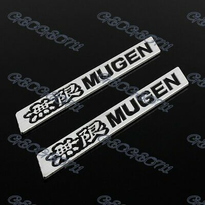 2 PCS MUGEN 3D LOGO Car Trunk Emblem Badge Sticker Decal for HONDA CIVIC ACURA