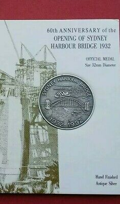 60th Anniversary of the opening of Sydney Harbour Bridge 1932 Official Medal