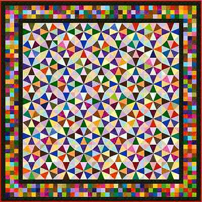 """IRONICAL - 93"""" - Quilt-Addicts Pre-cut Patchwork Quilt Kit Queen"""