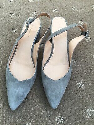 Country Road Slingback Grey Shoes EC 38