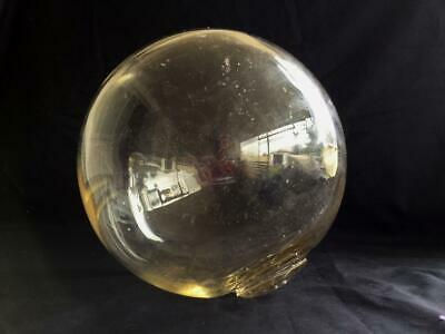Collectable Vintage Maritime Nautical Clear Glass Fishing Ball Float Bouy