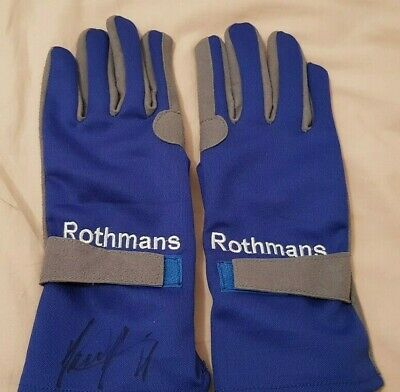 Damon Hill Hand Signed  Race Gloves World Champion