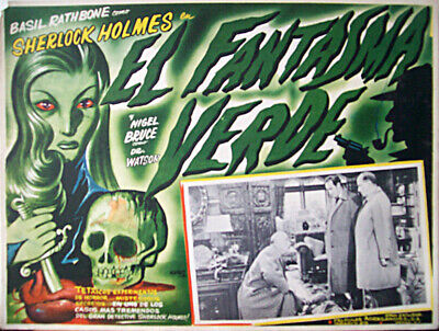 ALL DETECTIVES & SPIES/The Woman in Green/BASIL RATHBONE/1945/MEXICAN LOBBY CARD
