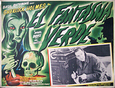 ALL DETECTIVES & SPIES/The Woman in Green/BASIL RATHBONE/1945/MEXICAN LOBBY CAR