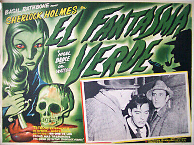 ALL DETECTIVES & SPIES /The Woman in Green/BASIL RATHBONE/1945/MEXICAN LOBBY CAR