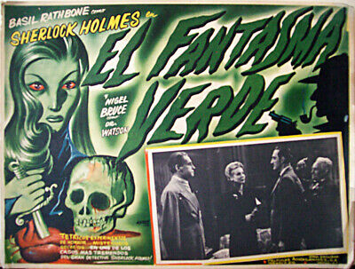 ALL DETECTIVES & SPIES /The Woman in Green/BASIL RATHBONE/1945/MEX LOBBY CARD